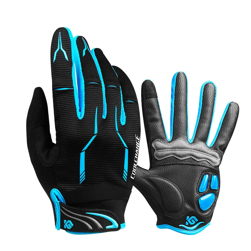 CoolChange Winter Cycling Gloves Touch Screen GEL Riding MTB Bike Gloves Sport Full Finger Motorcycle Bicycle Gloves Men Woman